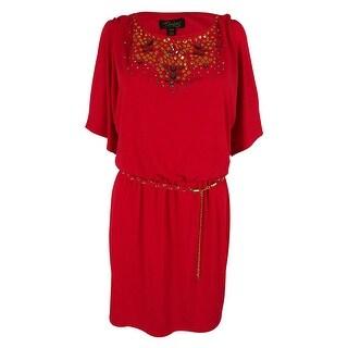 Thalia Sodi Women's Blouson Cold Shoulder Dress