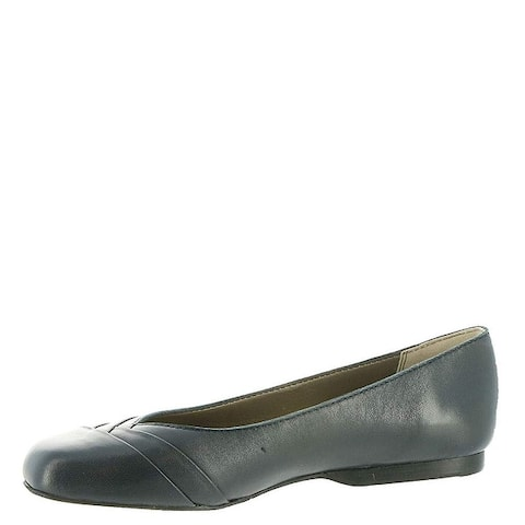 ARRAY Womens crystal Leather Square Toe Slide Flats