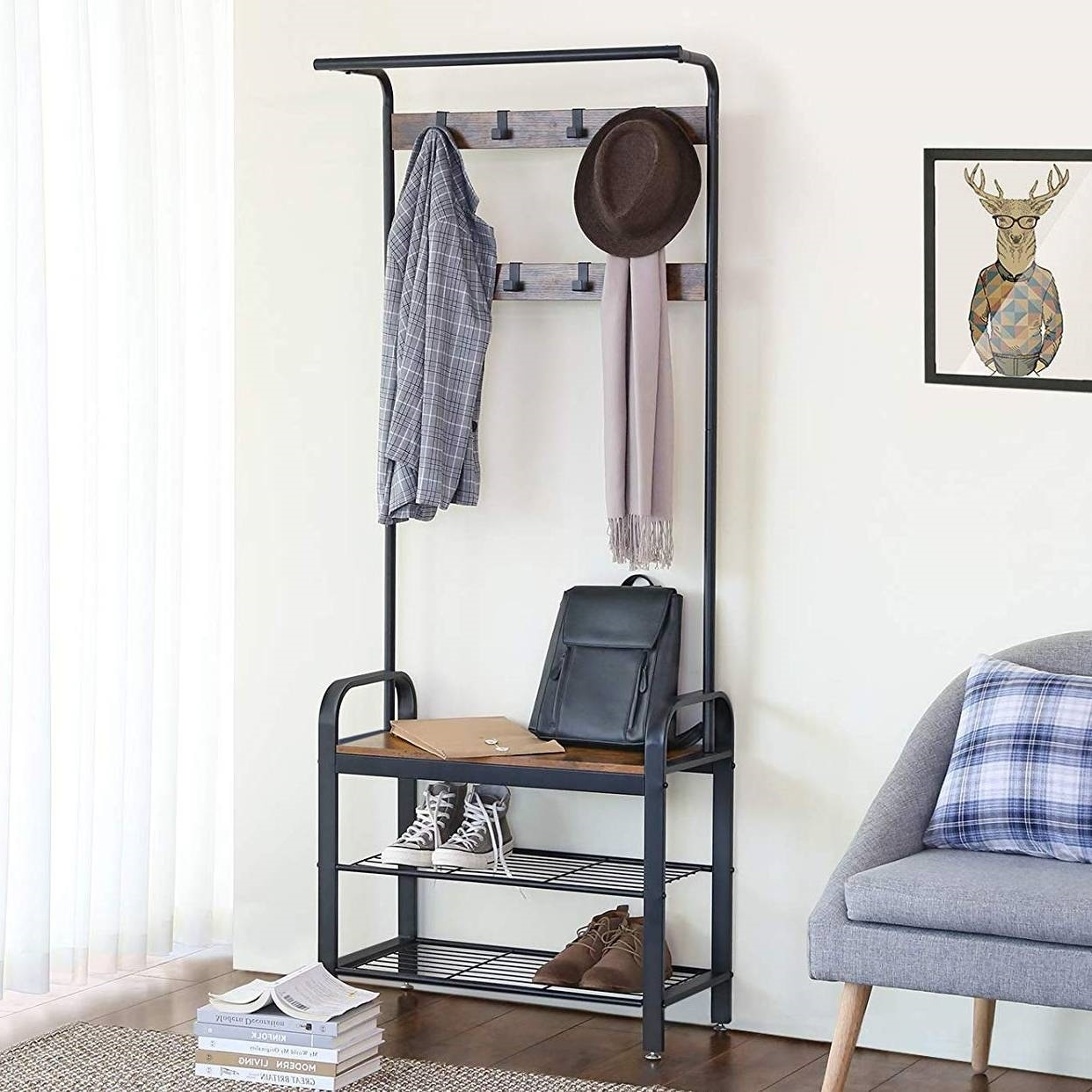Style Hall Tree Coat Rack