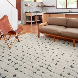 Link to Alexander Home Vail Mid-century Modern Geometric Area Rug Similar Items in TV Stands & Entertainment Centers