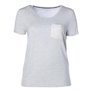 Calvin Klein Jeans Womens Juniors Short Sleeves Pocket Pullover Top - L