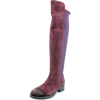 Bos & Co Abel Women Round Toe Suede Purple Over the Knee Boot