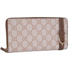 "New Gucci 309758 ""Nice"" Tess GG Plus Guccissima Zip Around Clutch Wallet"