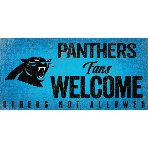 Carolina Panthers Wood Sign Fans Welcome 12x6. Opens flyout.
