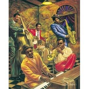 ''Cool Jazz'' by Sarah Jenkins Music Art Print (20 x 16 in.)