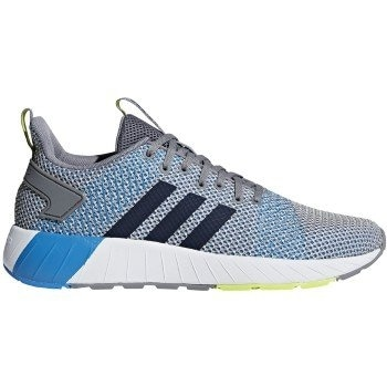 4dcfae8b2373 Shop Adidas Mens Questar BYD Low Top Lace Up Walking Shoes -  grey-collegiate navy - Free Shipping On Orders Over  45 - Overstock -  20887173