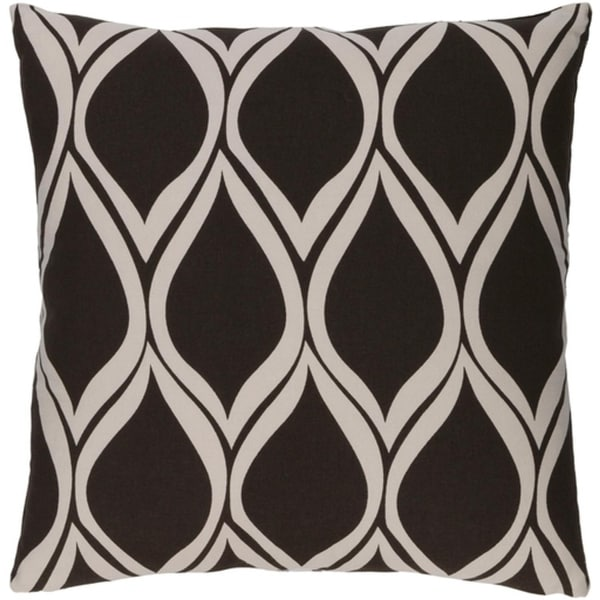 """20"""" Falling Drops Black Coffee with Cloud Gray Throw Pillow"""