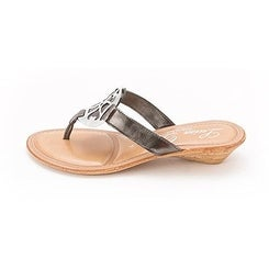 Luisa D'orio Womens Romance Open Toe Casual Slide Sandals