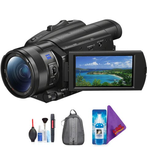 Sony FDR-AX700 4K Camcorder + Pro Accessories Bundle