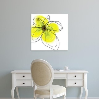 Easy Art Prints Jan Weiss's 'Yellow Petals Four' Premium Canvas Art