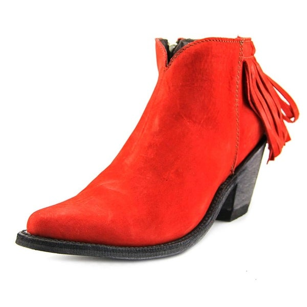 Old Gringo Latika II Women Pointed Toe Suede Red Ankle Boot