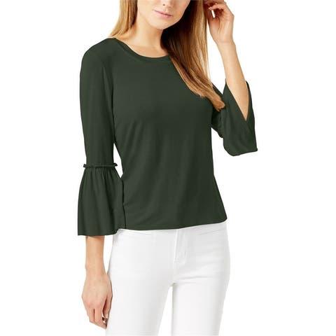 Maison Jules Womens Bell Sleeve Basic T-Shirt