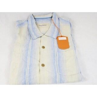 Tommy Bahama Good Stripe-ations Continental Size Medium Linen Camp Shirt