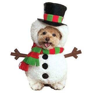 Walking Snowman Dog Costume - Large