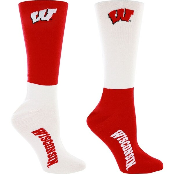 Wisconsin Badgers 4 Square Promo Mismatch Men's Socks, Large