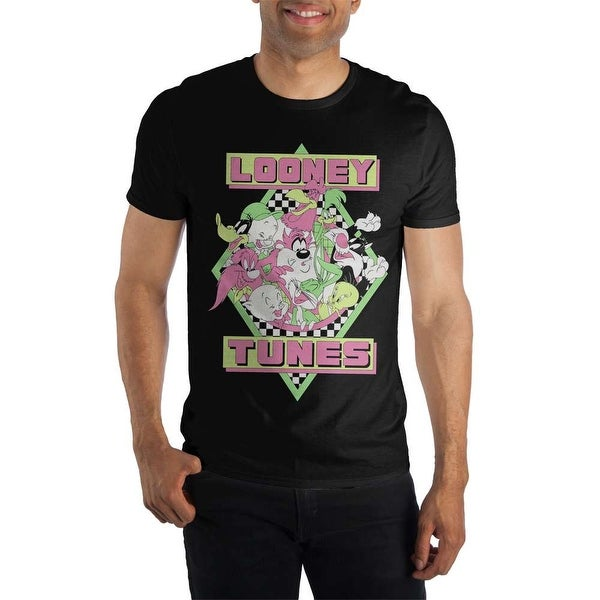 c85fedb5 Shop Looney Tunes Characters Mens Black Soft T Shirt - Free Shipping On  Orders Over $45 - Overstock - 21286119