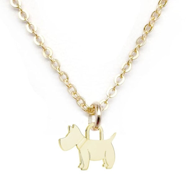 "Julieta Jewelry Scottie Dog Gold Charm 16"" Necklace"