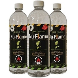 Bluworld Nu-Flame Bio-Ethanol Fuel, 3-Pack