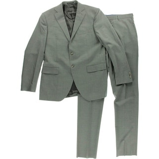 Lubiam Mens Wool 2PC Two-Button Suit - 44L
