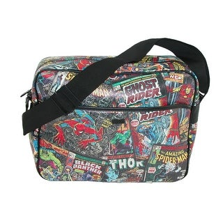 Marvel Comic Multi Character Messenger Bag - Multi-Color