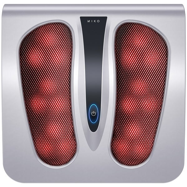Miko Shiatsu Foot Massager Deep Kneading/Rolling Massage Therapy With Heat Portable (Silver) - silver. Opens flyout.