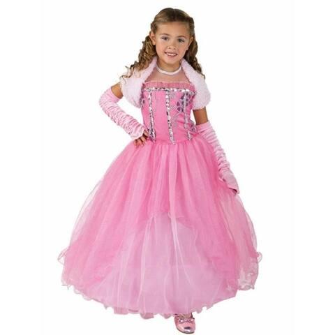 Princess Shirley Girls size M 8/10 Pink Dress Costume Outfit Rubie's