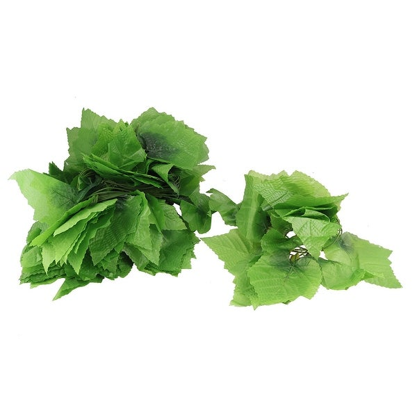 Green Artificial Simulation Ivy Grape Leaves Plants Garden Garland Decor 12 Pcs