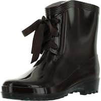 Easos Geal Stx015 Women's Lace-Up Jelly Ankle High Rain Boots- Runs Two Size Small