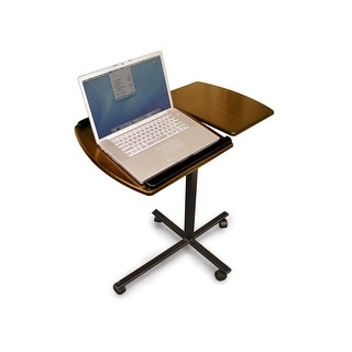 Adjustable Windsor Regency Walnut Laptop Desk w/ Wheels