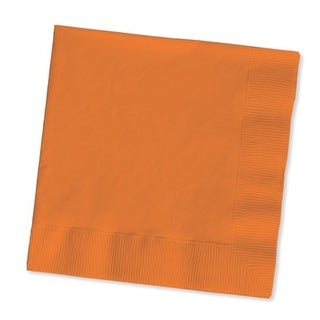 """Club Pack of 480 Sunkissed Orange 2-Ply Paper Beverage Party Napkins 5"""""""