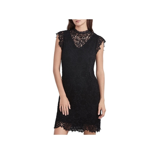 Velvet Womens Cocktail Dress Floral Crochet