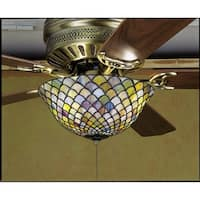 Meyda Tiffany 27451 Stained Glass / Tiffany Fan Light Kit from the Fixtures Collection