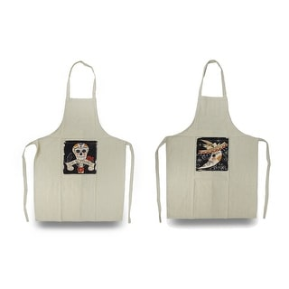 Day of the Dead Crescent Moon and Sugar Skull Apron Set
