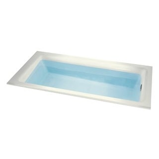 "Miseno MNO3260WDS Vitality 60"" Drop In Soaking Bathtub - Self Leveling Base and Overflow Drain Kit Included Free"