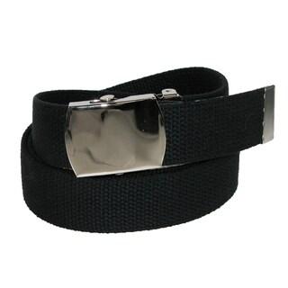 CTM® Cotton Adjustable Belt with Nickel Buckle - One size
