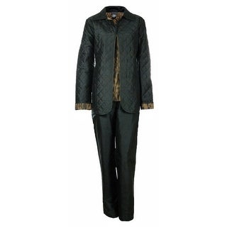 Sutton Studio Womens 3 Pcs Quilted Pant Suit Set Misses