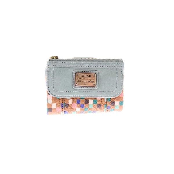 cc1e57fdfd41 Shop Fossil Womens Emory Trifold Wallet Leather Mixed Media - o/s ...