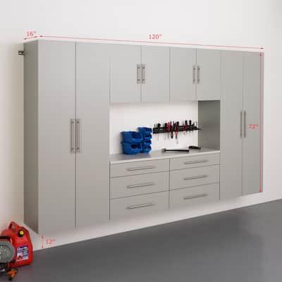 Prepac HangUps 120-inch 6-piece Storage Cabinet Set I