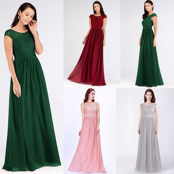 Ever-Pretty Women's Floral Lace Chiffon Long Evening Party Bridesmaid Maxi Dress 07552