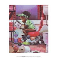 ''The Thinker (mini)'' by Frank Morrison African American Art Print (12 x 9 in.)