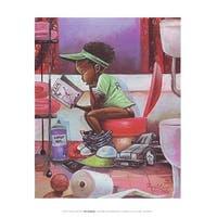 ''The Thinker (mini)'' by Frank Morrison Education Art Print (12 x 9 in.)