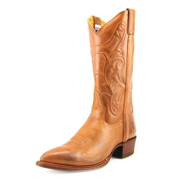 Frye Bruce Pull On   Pointed Toe Leather  Western Boot