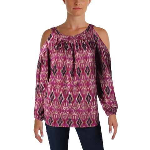 Lauren Ralph Lauren Womens Kazlas Blouse Modal Blend Printed