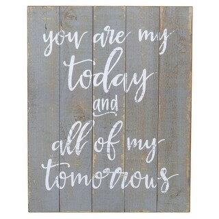 """Set of 2 """"You are My Today and ... Tomorrows"""" Words Printed Wall Decors 20.12"""""""
