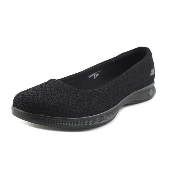 Skechers Go Step Lite - Enchanted Women Round Toe Canvas Black Sneakers