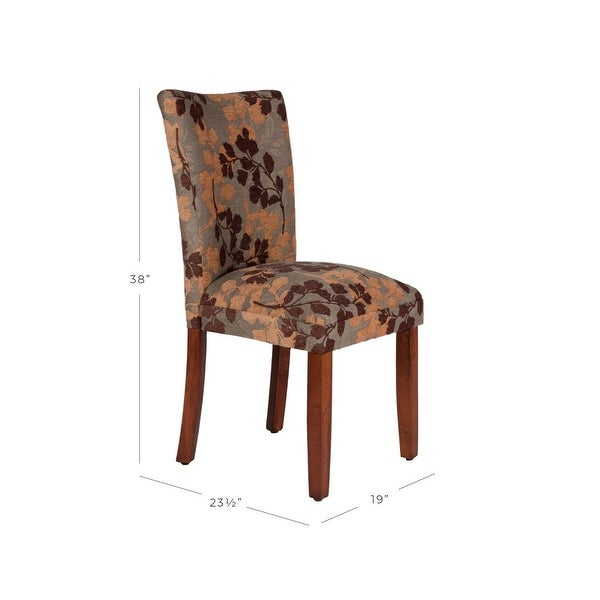 HomePop Classic Textured Sage Floral Chenille Dining Chair