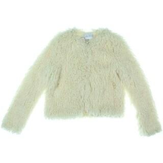Lucy Paris Womens Shaggy Faux Fur Jacket