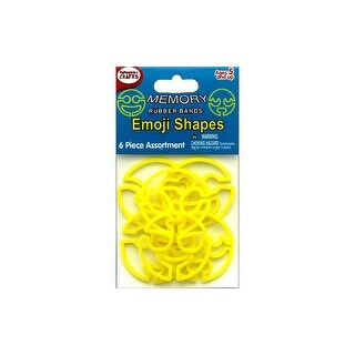 Pepperell Memory Rubber Bands Emoji Shapes