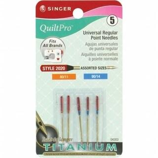 QuiltPro Titanium Universal Regular Point Machine Needles-Sizes 11/8