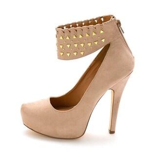 ShoeDazzle Womens Sakina Closed Toe Ankle Strap Platform Pumps
